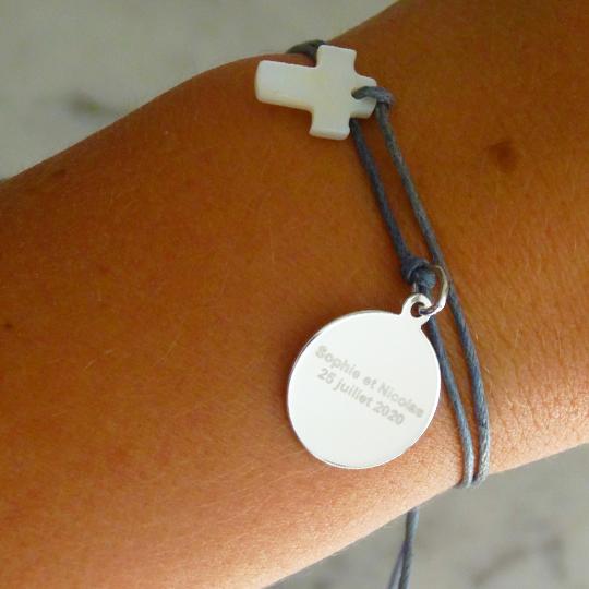 Bracelet-argent-personnalise-bapteme-communion